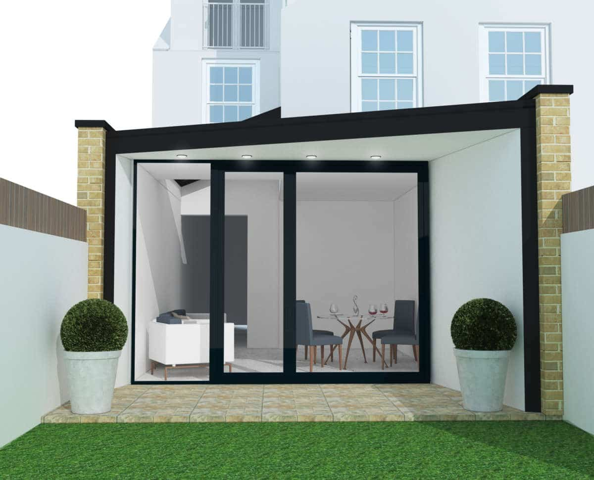 Contemporary house extension project