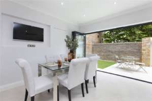 Rear house extension project in Clapham
